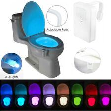 Body Sensing Automatic 8 Colour Changing Motion Sensor LED Toilet Night Light