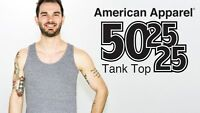 American Apparel TRI BLEND Tank Top Soft Basic T-Shirt TR408 8 COLORS AVAILABLE