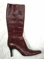 J. Crew burgundy leather knee high boot   Size 6 1/2