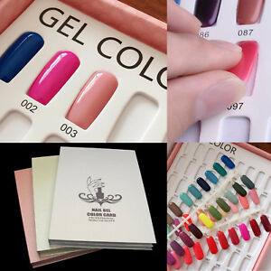 120 Nail Tip Colour Chart Display Book For UV/LED Gel Polish +120X Nail Tips UK