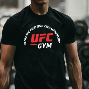MENS UFC T Shirt Gym Training Fit Training MMA Muscle Warrior Boxing TEE TOP