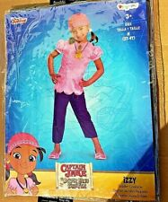CAPITANO Jake e la NEVERLAND PIRATI IZZY Bambino 3T-4T Girl Costume Di Halloween
