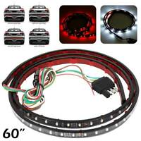 "60"" Tailgate LED Strip Lights Rear Turn Signal Reverse Brake Car Trunk Light UK"