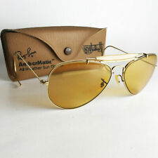 Vintage Ray Ban B&L OUTDOORSMAN AMBERMATIC Sunglasses 58mm aviator gold pilot