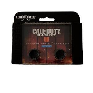 KontrolFreek Call Of Duty Black Ops 4 Thumbsticks for PS4 PS5 Black IIII