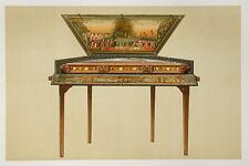 Dulcimer  Musical Instrument Chromolithograph 1888