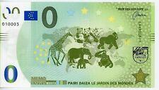 Billet Mémo Euro - Pairi Daiza, le jardin des mondes