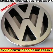 EMBLEMA LOGO VOLKSWAGEN VW OEM 1TO 853 601A 1TO853601A FRONTAL GOLF 5 POLO 125MM