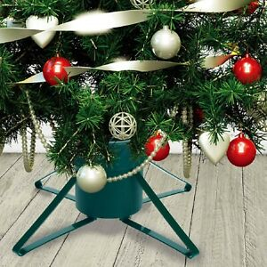 Metal Christmas Tree Stand Holder Traditional Xmas Heavy Duty Clamp Pot Base