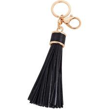 Womens Leather Tassels Keychain Purse Bag Buckle HandBag Pendant KeyringEPPi