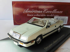 CHRYSLER LEBARON CONVERTIBLE WHITE 1990 NEO 44993 1/43 WEISS BLANCHE CABRIOLET