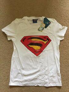 Superman T Shirt DC Comics Teenage Girls Size New