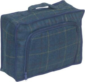 Blue Tweed Zipped Cooler Bag - Perfect for Picnics Lunches and Hampers
