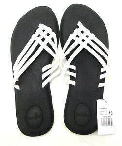 Neu Sanuk Damen Yoga Salzig Weiß Strand Wasser Tanga Sandalen Schuhe Sz US 10 Eu