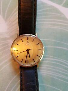 Gelbgold OMEGA 14k 585 Gold  Automatik Genève  Schweizer Uhr Herrenuhr
