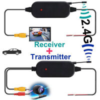 2.4G Wireless Color Video Transmitter & Receiver For Car Rear Backup View Cam AB