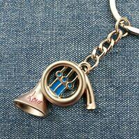 Metal KeyChain Keyring Music Instrument French Horn Gift Novelty Souvenir KC1012