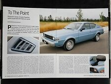 Plymouth Arrow - 4 Page Article - Free Shipping