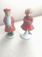 "Vintagw Franklin Mint Woodmouse Porcelain Figurines ""George"" & ""Poppy"" Set of 2"