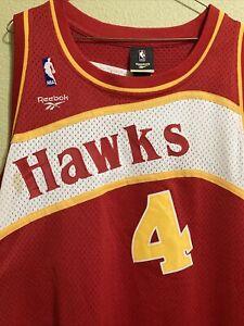 SPUD WEBB #4 ATLANTA HAWKS REEBOK HC SEWN 1986-87 NBA JERSEY ADULT 3XL L+2
