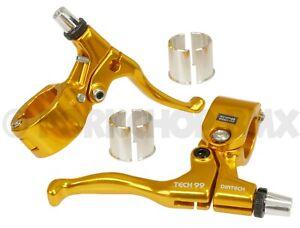 Diatech (Dia-Compe) Tech 99 BMX bicycle brake levers lever set GOLD