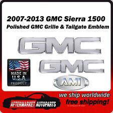 2007-2013 Sierra 1500 Polished Billet GMC Grille & Tailgate Emblem AMI 96511P