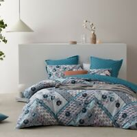 Logan and Mason Zali Quilt Cover Set Teal