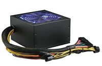 SHARK 600W Quiet Blue LED 120mm Fan 20/24pin ATX/EPS 12V P4/P8 PC Power Supply