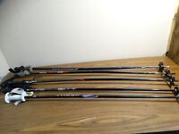 "Lot of 5 Ski Poles reflex Kerma scott   2 - 52""   2 - 49""  1 - 45"""