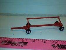 1/64 ertl farm toy red case ih massey Plastic standi toys header cart trailer