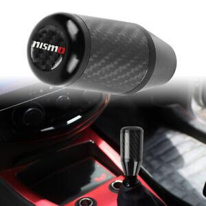Universal NISMO Black Carbon Fiber Racing Gear Stick Shift Knob For MT Manual