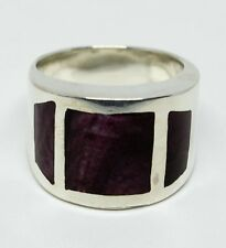 Hand Made in Peru Artisan Peru 950 Sterling Silver Amethyst Ring