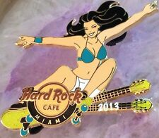 Hard Rock Cafe MIAMI FL 2013 SKATEBOARD GIRL Series PIN #3 - HRC Catalog NEW!