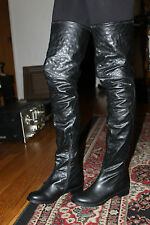 JEFFREY CAMPBELL THE WARFARE BOOT IN QUILTED BLACK SIZE 7.5