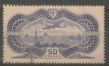 """FRANCE STAMP TIMBRE AERIEN N° 15 """"CAUDRON SIMOUN 50F BURELAGE 1936"""" OBLITERE TTB"""