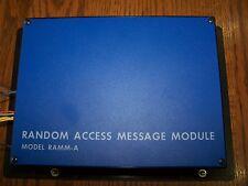 EST / IRC-3 EDWARDS EST RAMM-A RANDOM ACCESS MESSAGE MODULE