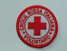 TOPPA PATCH RICAMATA VOLONTARIO CROCE ROSSA ITALIANA MINI CRI  SANITà C.R.I.