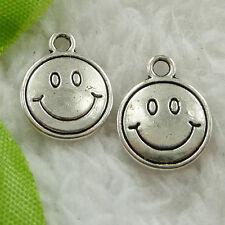 Free Ship 120 pcs tibet silver smiling face charms 16x13mm #1612