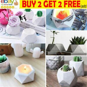 3D Silicone Molds Epoxy Resin Succulent Flower Pot Concrete Cement Clay Mold NL