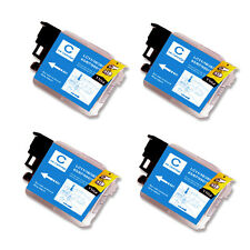 4 CYAN Ink Cartridge Compatible for Brother LC61 MFC J220 J265W J270W