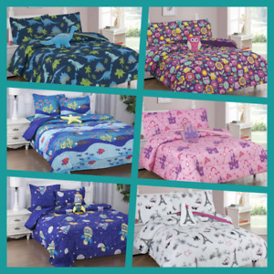 1 SET COMFORTER MANY DESIGNS BOYS & GIRLS / TEENS SHEET PILLOW CASES & FURRY TOY