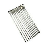 Sterling Silver Japanese Julep Straws, Set of 12