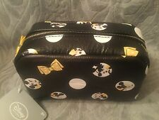 Signature Minnie Mouse Yellow Black White Authentic Disney Cosmetic Makeup Bag