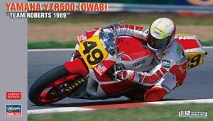 Hasegawa 21716 1/12 Scale Model Kit Team Roberts Yamaha YZR500 0WA8 1989 OWA8