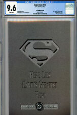 SUPERMAN #75 CGC 9.6 THE DEATH OF SUPERMAN GATEFOLD BACK COVER