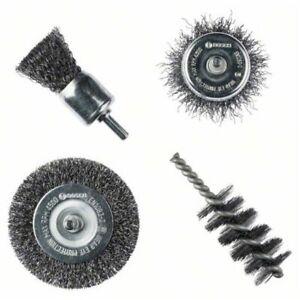 4tlg  Bosch Drahtbürsten Set für Akkuschrauber , Bohrmaschine