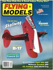 FLYING MODELS Magazine April 2004  Skaliwag R/C 1/2a Bipe