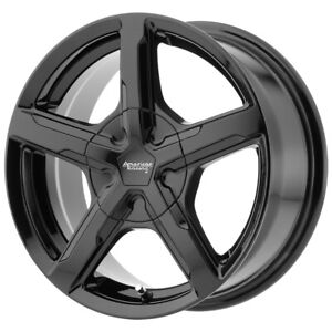 "American Racing Trigger 17x7 5x110/5x115 +40mm Gloss Black Wheel Rim 17"" Inch"