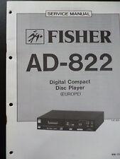 Original Service Manual Fisher Digital Compact Disc Player AD-822