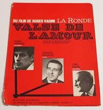 Partition vintage sheet music THEO SARAPO : Valse de l'Amour 60's VADIM La Ronde